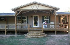 46 Ideas Mobile Home Remodel Ideas Porches Mobile Home Redo, Mobile Home Porch, Mobile Home Repair, Mobile Home Makeovers, Mobile Home Living, Mobile Home Decorating, Porch Decorating, Decorating Ideas, Porches For Mobile Homes