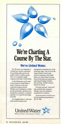United Water Services and GOVERNING in 1995