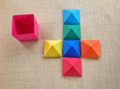 free DIY STUDIO PDF 3D 6 pyramid boxes that fir inside the square cube box Papercrafts and other fun things: September 2013