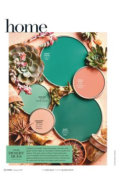 """""""Color Desert Hues"""" from Better Homes and Gardens, January Read it on the Texture app-unlimited access to top magazines. Room Colors, House Colors, Colour Schemes, Color Combos, Behr Colors, Desert Colors, Desert Homes, Pallet Painting, Paint Colors For Home"""