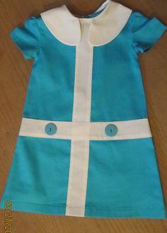 Retro 1960s style Turqoise Lauren dress childrens by faithworks4u, $48.00