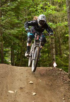 Girls that mountain bike.  Sarah Fenton, Whistler Bike Park.