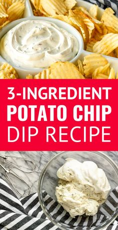 Easy Chip Dip Recipe For Potato Chips Ingredients!) – Unsophisticook Potato Chip Dip Recipe -- If you're a chips and dip junkie, you're going to LOVE this out-of-this-world easy chip dip. AND it doubles as a delicious veggie dip! Dips Für Chips, Chips Dip, Dip For Potato Chips, Dip For Tortilla Chips, Potato Chip Dips, Best Potato Chip Dip Recipe, Cream Cheese Chip Dip, Sour Cream Chip Dip, Deserts