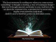 The magic of books....