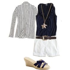 necklace, shirt, striped cardigan and shoes idea