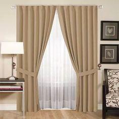 juego de cortinas, blackout textil triple capa 11 colores!!