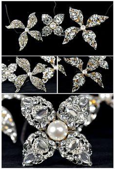 Swarovski Crystal Flowers so delicate