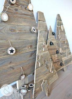 reclaimed wood pallet christmas trees for festive decor