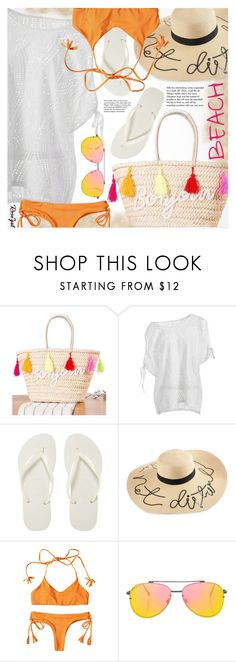 """""""Vacation"""" by pokadoll ❤ liked on Polyvore featuring Tiffany & Co., Havaianas and Topshop"""