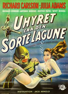 1955 Danish poster for Creature from the Black Lagoon.