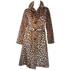 Rare 1960s Jean Patou by Karl Lagerfeld Faux Fur Leopard Vintage Swing Jacket | From a collection of rare vintage jackets at https://www.1stdibs.com/fashion/clothing/jackets/