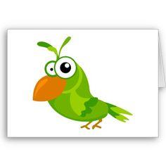 Bird of paradise cartoon