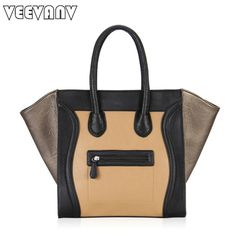 ==> [Free Shipping] Buy Best 2017 VEEVANV Designer Smiley Tote Bag Vintage Smile Face Messenger Bags Gold Leather Handbags Casual Women Handbags Shoulder Bag Online with LOWEST Price | 32608002033