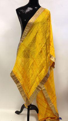 Silk Dupatta - Yellow & Golden Panjabi Suit, Indian Accessories, Indian Fashion, Womens Fashion, Silk Dupatta, Western Dresses, Cool Suits, Indian Wear, Baking Blogs
