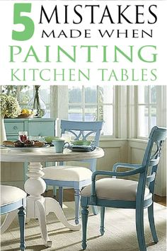 Learn how to paint it right by avoiding these mistakes when painting kitchen tables!