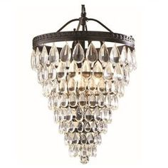 allen + roth Eberline 12.76-inch W Oil-Rubbed Bronze Pendant Light with Crystal Shade - Item #589387 - Lowe's