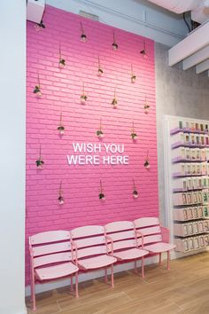How New Beauty Store Riley Rose Was Designed to Be the Ultimate 'Homage to Millennials' house of beauty - House Beautiful Nail Salon Decor, Beauty Salon Decor, Beauty Salon Interior, Makeup Studio Decor, Beauty Salon Design, Cafe Design, Store Design, Bakery Design, Studio Design