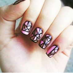 Supercool #geometricnails by @_nailfinity_  Share your nail art with us and we…
