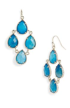 Gorgeous blue earrings...the color of the ocean!  Need these for the trip.