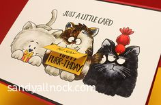 Copic Coloring Cats video - Guest post at Gerda Steiner Designs by Sandy Allnock