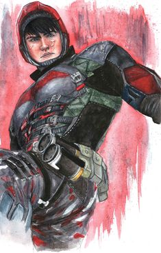 "mtprompto: ""Some of my Arkham Knight + Red Hood art from last year. Jason Todd Robin, Red Hood Jason Todd, Batman Vs Superman, Batman Comics, Dc Comics, Marvel Heroes, Marvel Dc, Robin Arkham Knight, Couples Comics"