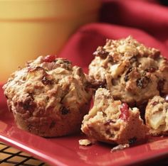 Healthy fruit nut muffins