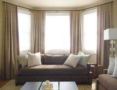 Bay window ideas windowtreatments Window Treatments Pinterest