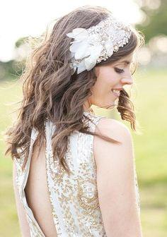 """Wedding hair accessory """"Gleam"""""""