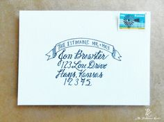 This site has a lot of great wedding calligraphy suggestions and envelope samples.