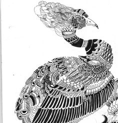 zentangle_peacock_by_mebedrawing2-d6pqfym.jpg 875×913 pixels