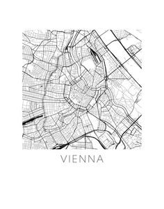 Vienna Map Print by iLikeMaps on Etsy