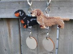 Dachshund Wirehaired crate tag dog doxie hang by barleecreations