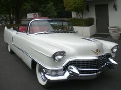 1955 Cadillac Coupe deVille Convertible I think the devil drove a Coupe deVille. American Classic Cars, Old Classic Cars, Classic Auto, 1959 Cadillac, Cadillac Ct6, Cadillac Eldorado, Us Cars, Sport Cars, Race Cars