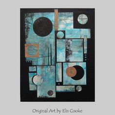 Original Contemporary Abstract Painting Modern art by ElisCooke, $220.00