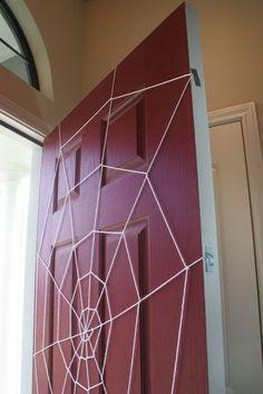 Yarn Spider Web Door