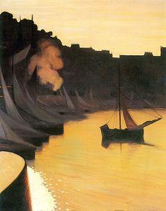 Der Hafen bei Abendlicht - Felix Vallotton