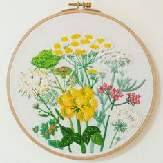 야생화 자수꽃모음flowers embroideryhooparteco hoop