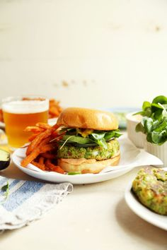Spring Pea Veggie Burgers | Joy the Baker