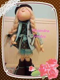 Ceci EuQfiz: Boneca Alejandra Sandes com molde