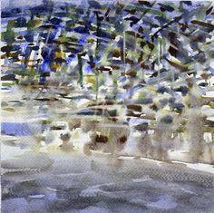 GRISAZUR: Acuarela sobre papel, 20x20 cm.May. 21, 2015