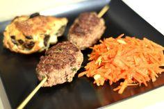 Mrs. Lovett's pies: Spiedino di hamburger agli aromi, insalata di caro...