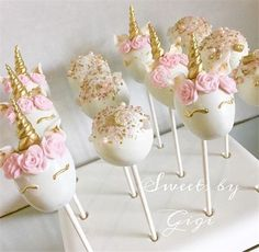 17 New Ideas For Birthday Party Ideas Baby Cake Pop Unicorn Birthday Parties, First Birthday Parties, First Birthdays, Cake Birthday, 5th Birthday, Birthday Ideas, Unicorn Baby Shower, Girl Shower, Unicorne Cake