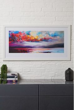 Buy Artist Collection Stratocumulus by Scott Naismith Frame from the Next UK online shop Oil Painting Texture, Painting Edges, Lake Painting, Detailed Paintings, Colorful Trees, Original Art For Sale, Online Painting, Abstract Wall Art, Print Pictures