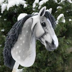 """Lady Grey"", hobbyhorse by Eponi. Stick Horses, Show Horses, Race Horses, Barrel Racing Saddles, Barrel Racing Horses, Clydesdale Horses, Breyer Horses, Western Pleasure Horses, Horse Show Clothes"