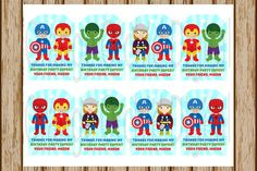 PERSONALIZED Superhero Gift Tags Super Hero Gift Tags