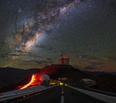 O incrível céu do Deserto do Atacama, Chile.