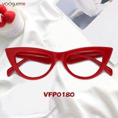 7d4eb4063b2 Amber Red Cat Eye Glasses A pair of plain but classic cat eye glasses. High