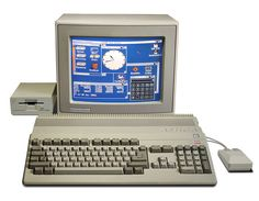 Commodore Amiga 500 16 bit home computer with monitor and floppy drive (1987)