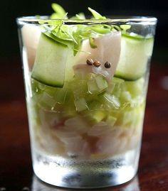 Kingfish gin and tonic at Duke
