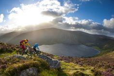 Mountain Biking above Lock Tay in the Garden of Ireland